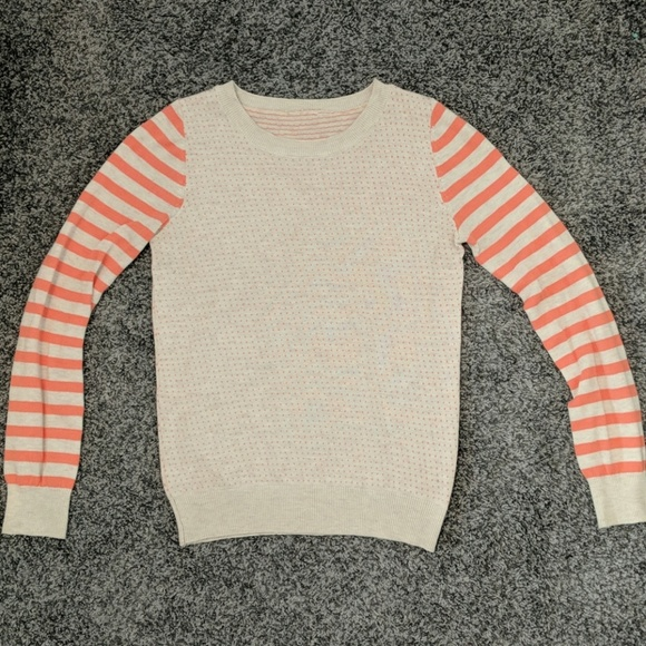 unknown Sweaters - Coral and beige sweater